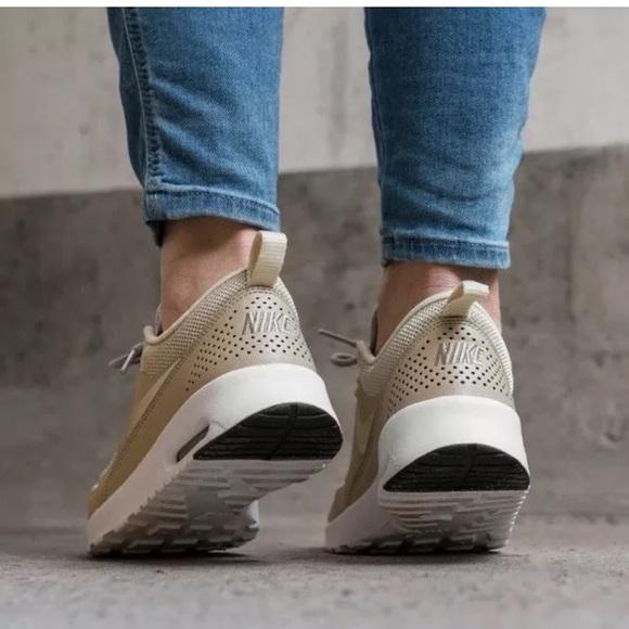 Nike Shoes | Womens Air Max Thea Light Cream Sneakers | Poshmark